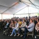 Public présent lors de l'inauguration